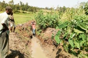 The Water Project: Musango Community, Jared Lukoko Spring -  Digging Drainage