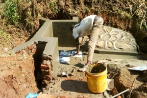 The Water Project: Mwituwa Community, Nanjira Spring -  Spring Protection Construction
