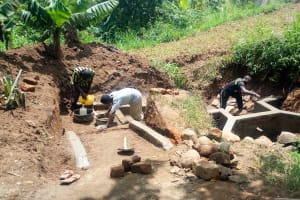 The Water Project: Nambatsa Community, Odera Spring -  Spring Protection Construction