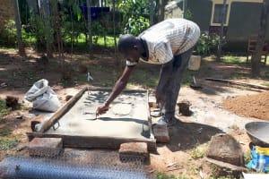 The Water Project: Matsakha Community, Mbakaya Spring -  Sanitation Platform Construction