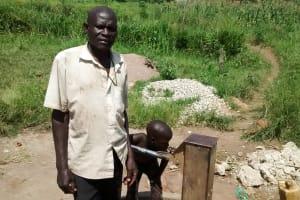 The Water Project: Nyakarongo Community -  Water Point Chairman Asiimwe Perez