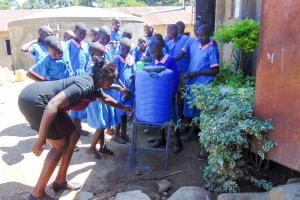 The Water Project: Eshiamboko Primary School -  Handwashing