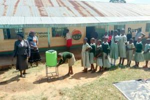 The Water Project: St. Joseph Eshirumba Primary School -  Practicing Handwashing