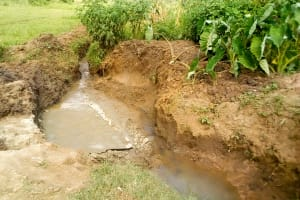 The Water Project: Musango Community, Jared Lukoko Spring -  Setting The Foundation