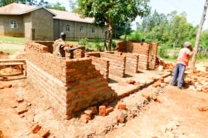 The Water Project: Emmaloba Primary School -  Latrine Construction