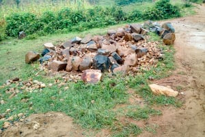 The Water Project: St. Joseph Eshirumba Primary School -  Stones Collected For Construction