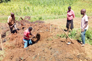 The Water Project: Emulakha Community, Alukoye Spring -  Spring Excavation