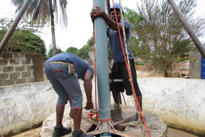 The Water Project: Rotifunk Baptist Primary School -  Drilling