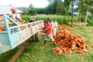 The Water Project: Samson Mmaitsi Secondary School -  Brick Delivery