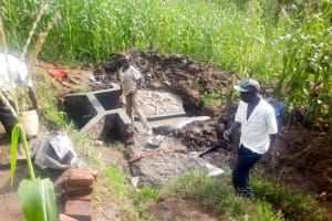 The Water Project: Mwituwa Community, Shikunyi Spring -  Spring Protection Construction