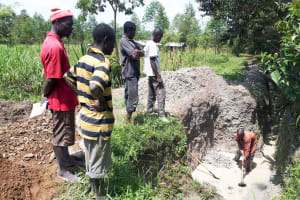 The Water Project: Matsakha Community, Mbakaya Spring -  Excavating The Spring