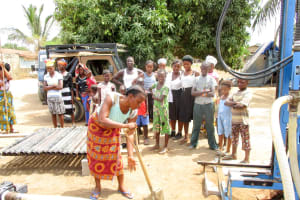 The Water Project: Mahera Community, 3 Robolla Street -  Breaking First Ground
