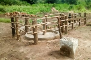 The Water Project: Nyakarongo Community -  Water Well After Being Fenced