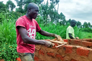 The Water Project: Mwanzo Primary School -  Latrine Construction