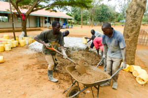 The Water Project: Emmaloba Primary School -  Mixing Cement