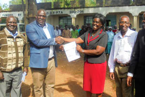 The Water Project: Essaba Secondary School -  Local Government Comes To Visit During Project