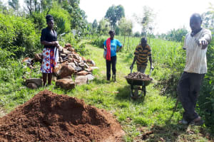 The Water Project: Matsakha Community, Mbakaya Spring -  Delivering Helpful Materials