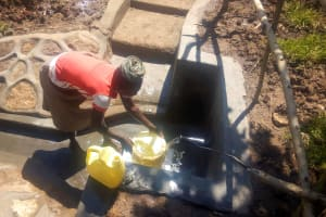 The Water Project: Mwituwa Community, Shikunyi Spring -  Spring Protection