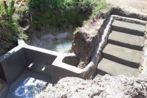 The Water Project: Matsakha Community, Mbakaya Spring -  Spring Protection Construction