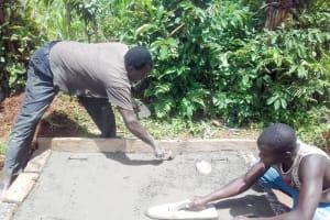 The Water Project: Lwangele Community, Machayo Spring -  Sanitation Platform Construction