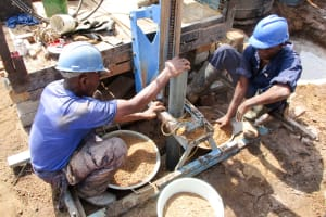 The Water Project: Tintafor, Fire Force Barracks Community -  Drilling