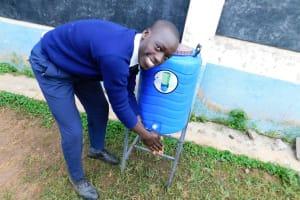 The Water Project: Essaba Secondary School -  Handwashing Station