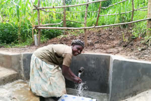 The Water Project: Mwituwa Community, Nanjira Spring -  Clean Water