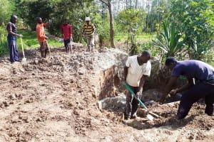 The Water Project: Matsakha Community, Mbakaya Spring -  Building Stairs