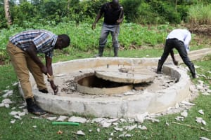 The Water Project: Vilongo Community -  Deconstructing Well Pad