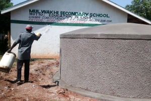 The Water Project: Mulwakhi Secondary School -  Tank Construction