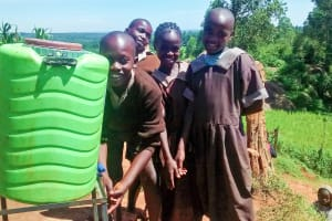 The Water Project: Mwanzo Primary School -  Handwashing Station