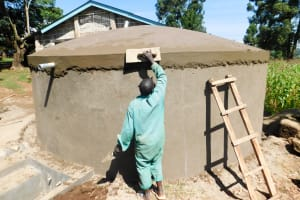 The Water Project: Erusui Secondary School -  Tank Construction