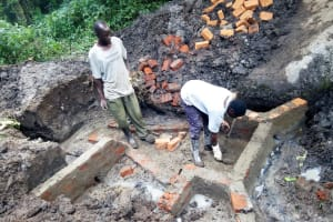 The Water Project: Muraka Community, Peter Itevete Spring -  Spring Protection Construction