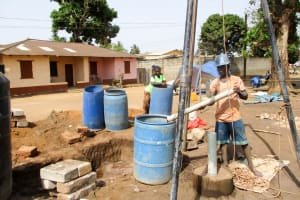 The Water Project: Tintafor, Fire Force Barracks Community -  Bailing