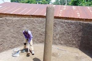 The Water Project: Eshiamboko Primary School -  Tank Construction