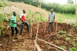 The Water Project: Musango Community, Jared Lukoko Spring -  Building A Fence