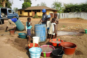 The Water Project: Tintafor, Fire Force Barracks Community -  Flushing