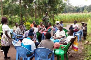 The Water Project: Burachu B Community, Shitende Spring -  Training