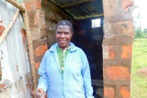 The Water Project: Ulagai Community, Aduda Spring -  Sanitation Platform In Latrine