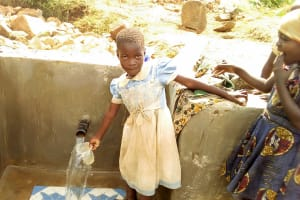 The Water Project: Musango Community, Jared Lukoko Spring -  Children Could Not Wait To Use The Spring