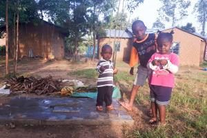 The Water Project: Matsakha Community, Mbakaya Spring -  Sanitation Platform