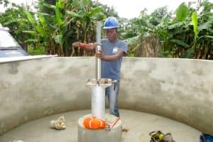 The Water Project: Tulun Community, 10 Tulon Road -  Pump Installation