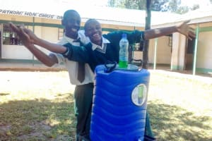The Water Project: Mulwakhi Secondary School -  Handwashing Station