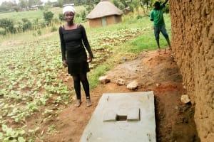 The Water Project: Musango Community, Jared Lukoko Spring -  Finished Sanitation Platform