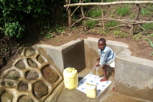 The Water Project: Nambatsa Community, Odera Spring -  Clean Water