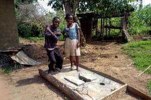 The Water Project: Muraka Community, Peter Itevete Spring -  Sanitation Platform