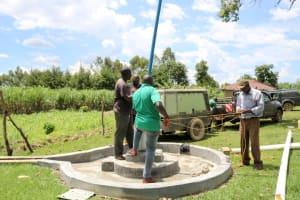 The Water Project: Vilongo Community -  Pump Installation