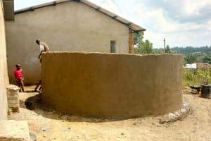 The Water Project: St. Joseph Eshirumba Primary School -  Tank Construction