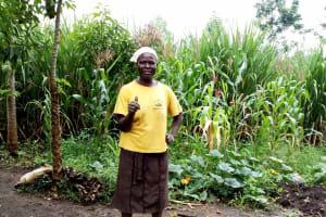 The Water Project: Burachu B Community, Shitende Spring -  Sanitation Platform