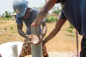 The Water Project: Kasongha Community, Kombrai Road -  Drilling